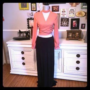 Barney's New York Jersey black maxi skirt